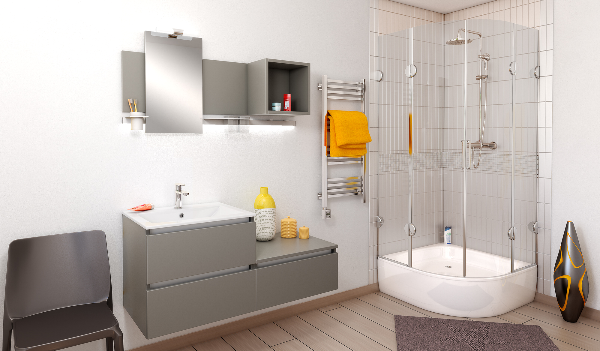 meuble de salle de bain vasque miroir par cuisine malrieu. Black Bedroom Furniture Sets. Home Design Ideas